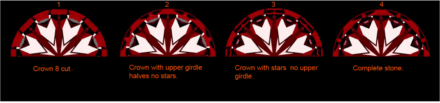 Hearts and Crown of a Hearts and Arrows Diamond